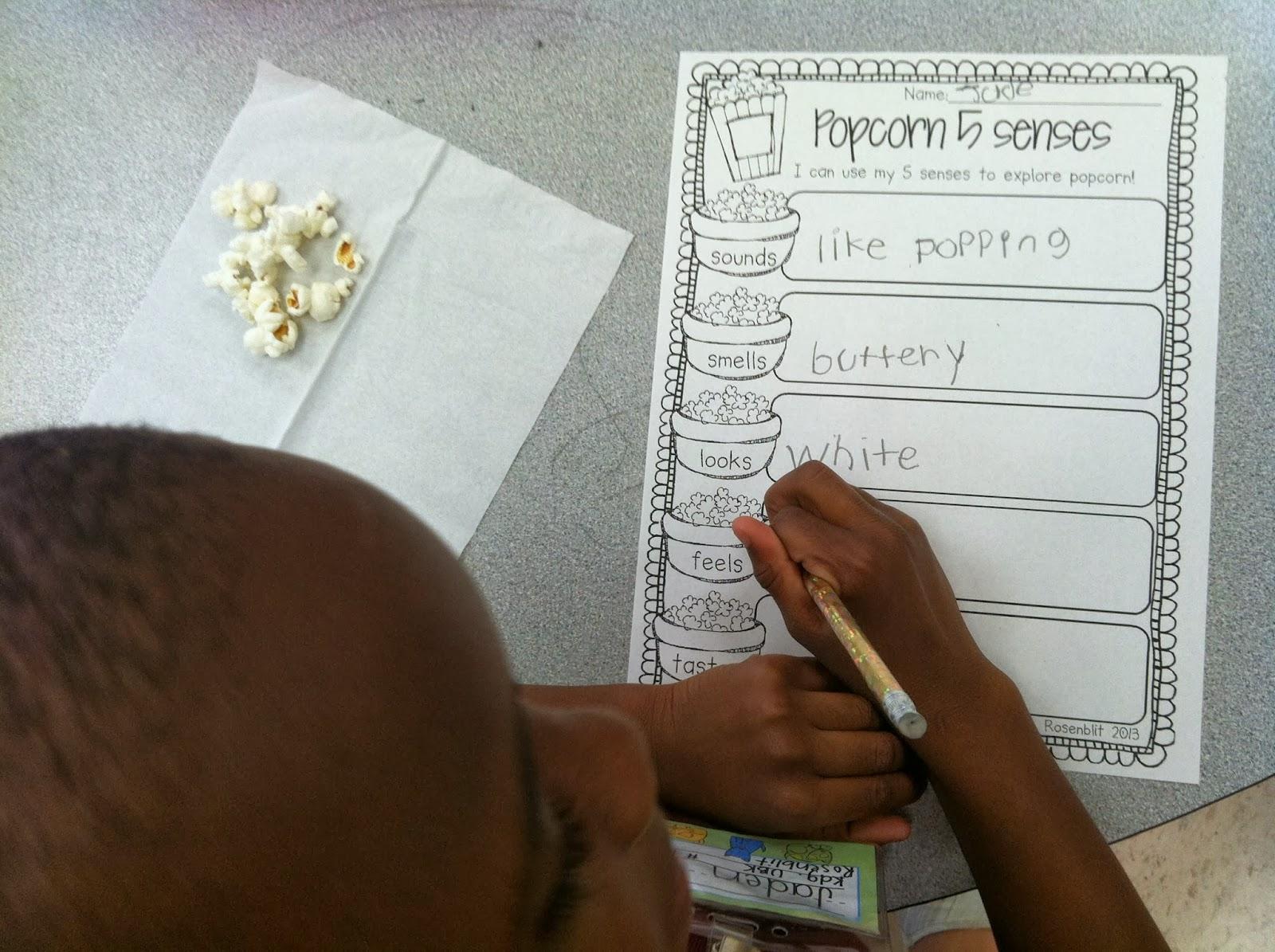 Sweet Kindergarten Our Fabulous Five Senses